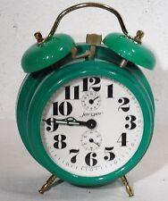 vintage 70s - Mechanische Tischuhr grüner Doppelglocken Wecker Jerger Uhr ~ 70er