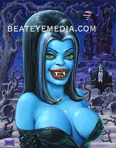 XNO-DRACULA ART PRINT-UNDERGROUND COMIC,MONSTER,VAMPIRE ... Vampire Pin Up Tattoo
