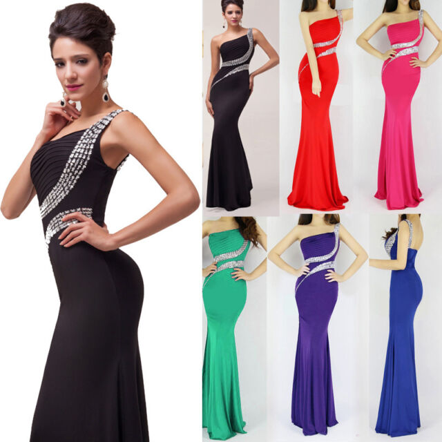 2014 Hot Sexy Sequins Bodycon Ball Gown Evening Prom Party Cocktail Long Dress