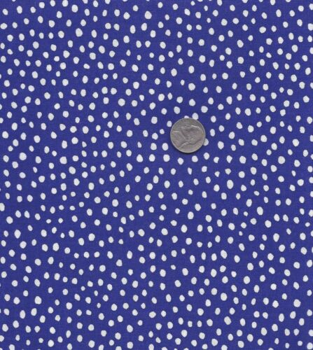 QUILT FABRIC FUNNY DOTS 100/% COTTON PURPLE  FD-07 By The Yard