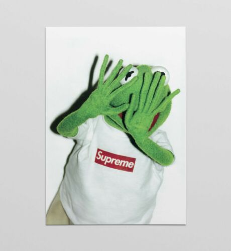 Supreme Kermit No Photos poster art print limited A4 A3 A2 wall art Box logo Tee