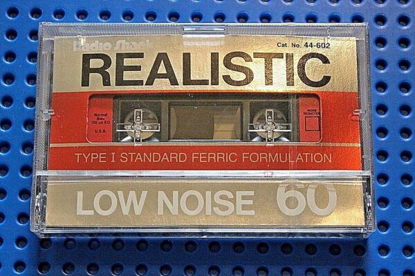 Het Beste Realistic Low Noise 60 Vs. Ii Blank Cassette Tape (1) 44-602 (sealed) Crazy Prijs