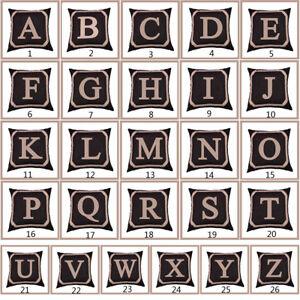 Am-KE-Alphabet-Letter-Linen-Cushion-Cover-Pillow-Case-Waist-Throw-Home-Decor-E