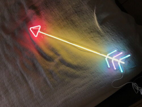 New Arrow Neon Sign For Bedroom Wall Art Home Decor Artwork With Dimmer