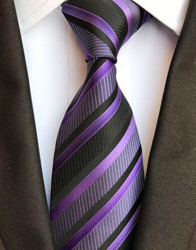Plaids Striped Pattern Blue Red Gold Grey Black Silk Tie Men/'s Necktie Slim A085