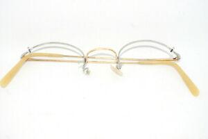 Vintage-034-Trident-20-034-spectacles-frames-half-rim-gold-filled