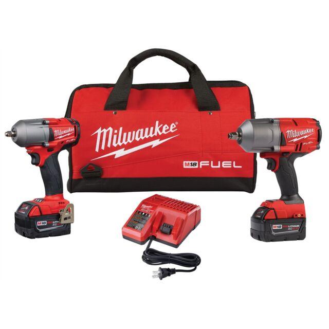 "Milwaukee 2993-22 M18 FUEL Mid Torque 3/8"" Drive High Torque 1/2"" Impact Kit"