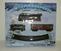 North Pole Express 13pc Train Set Battery Powered Headlight Christmas Gift