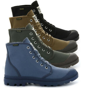 Palladium-Mens-Pampa-High-Orig-Boots-Canvas-Lace-Up-Walking-Hi-Top-Ankle-Shoes