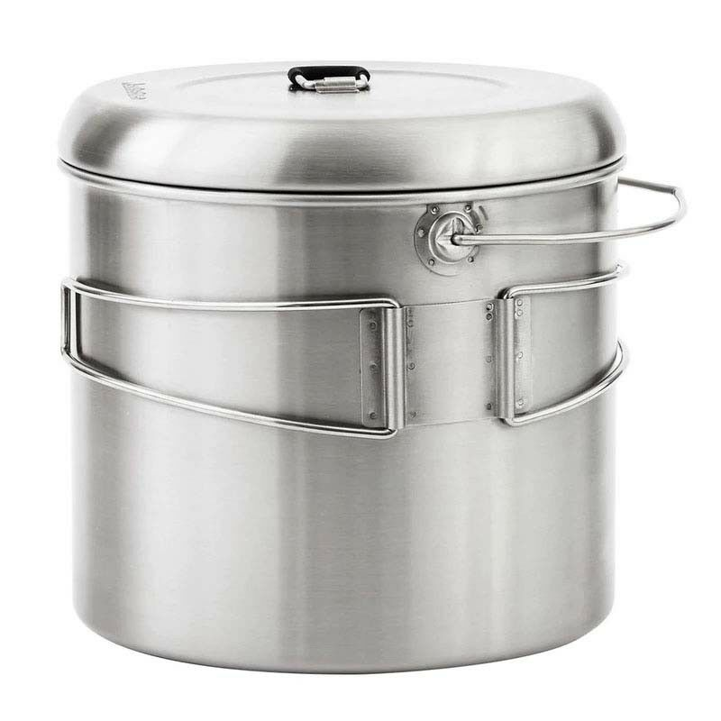 Solo Stove Pot 4000 Stainless Steel Companion Pot for Solo Stove Campfire. Gr...