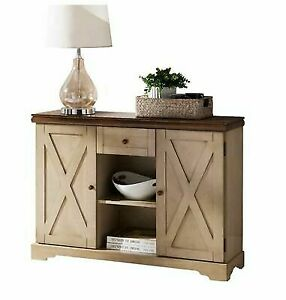 Small Sideboard Buffet Table Farmhouse Wood Server Kitchen Cabinet Furniture