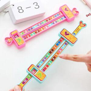 Kids Preschool Math Learning Toys Mathematics Education Addition Ruler LO