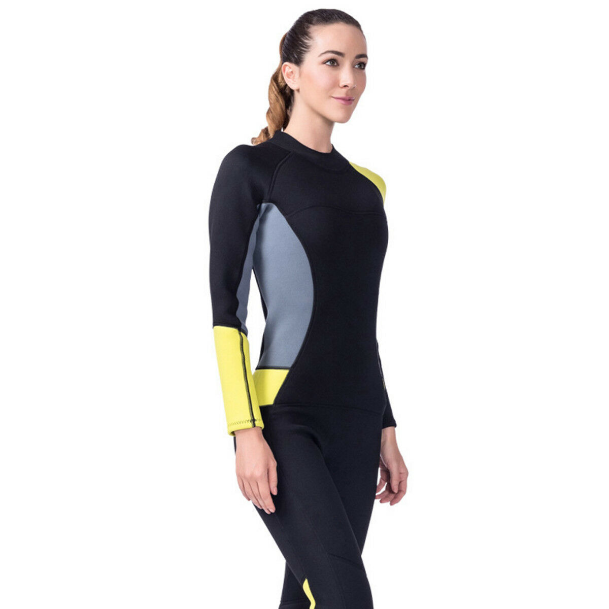 3mm Women Long Sleeve Wetsuit Surfing Scuba Diving Neoprene One-Piece Swim Suit