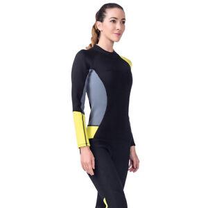 3mm-Women-Long-Sleeve-Wetsuit-Surfing-Scuba-Diving-Neoprene-One-Piece-Swim-Suit