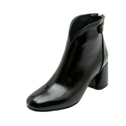 Details about  /Women/'s Ladies Block Mid Heel Ankle Boots 3 Colors Smart Work Casual Size 34-46