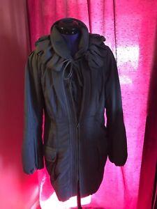 Authentic-ELIE-TAHARI-DARK-LILA-Coat-Jacket-Trench-Size-S-P