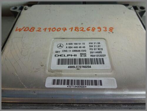 Mercedes Benz W211 CDI Motorsteuergerät Steuergerät 6461505172 DELPHI 0044464840