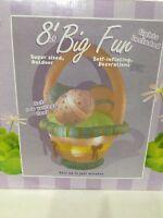 Inflatable Easter Basket 8 Ft Wide Outdoor Yard Decoration Large Lighted Decor