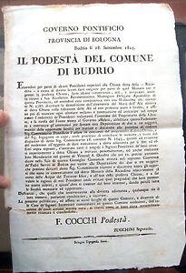 1815-BANDO-BOLOGNESE-CHIUSA-DELLA-RICCARDINA-A-BUDRIO-DI-BOLOGNA-ACQUE