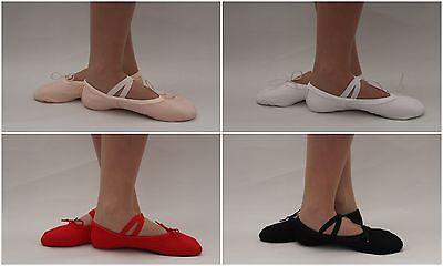 Ballet Shoes Canvas Yoga Gymnastic Split Sole Adult Children Pink Blck Red White