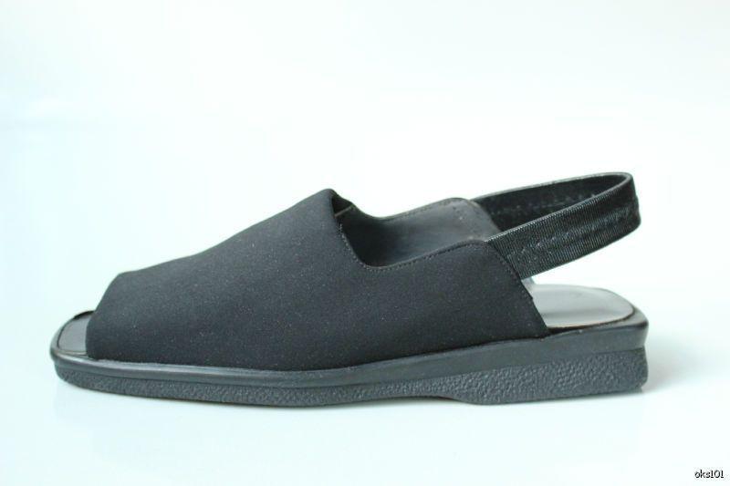 Nuevo Stuart Weitzman    Gumby  Negro Micro Stretch Charol Flats zapatos 5-Cómoda  salida de fábrica