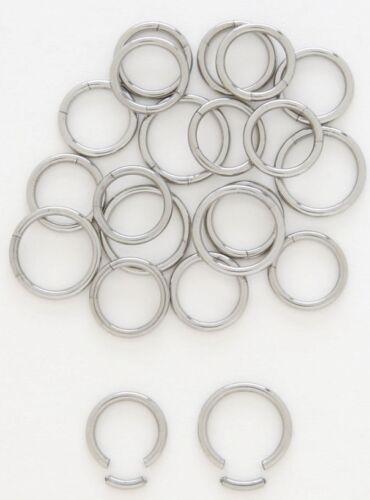 "1 PAIR 16g 1//2/"" Steel Segment Captive Bead Ring Nipple Lip Ear Tragus Septum"