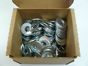 Yellow Zinc SAE Pattern #4 Steel 10 lb Flat Washers