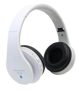 WHITE-STN-12-Foldable-Wireless-On-ear-Stereo-Bluetooth-Headset-with-CardSlot