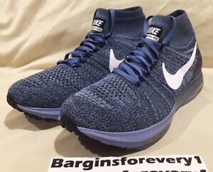 Nike Zoom All Out Flyknit - Size 11.5 - Ocean Fog/White-Work Blue - 844134-402