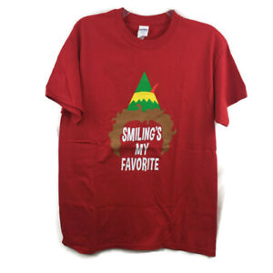 Buddy The Elf Smiling S My Favorite Red T Shirt Mens M New W Tag Ebay