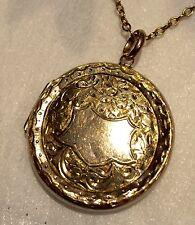 Antico INCISI 9 CARATI ORO CIONDOLO su belle oro 9 carati catena