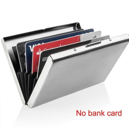 Aluminium Metall Slim Anti-Scan Kreditkarteninhaber RFID Blocking Wallet