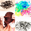 300-Black-and-Mix-Colour-New-Rubber-Rope-Ponytail-Holder-Elastic-Hair-Band-Ties