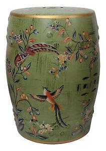 Large Oriental Ceramic Porcelain Stool Table M19924s