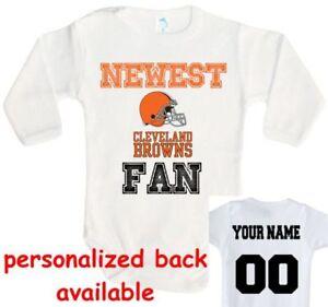 size 40 dee2f 58bc1 Detalles acerca de Baby Body más reciente Ventilador Cleveland Browns  Football Jersey De Una Pieza- mostrar título original