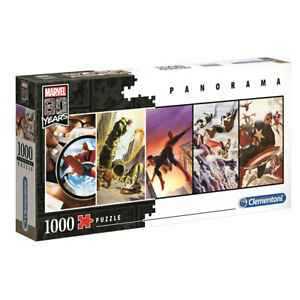 Clementoni Marvel 80th Anniversary Panorama 1000 Piece Jigsaw Puzzle NEW