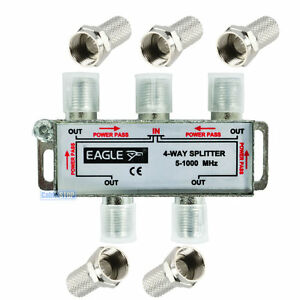 4-WAY-DIGITAL-TV-5-1000MHz-AERIAL-SAT-FREEVIEW-F-PLUG-COAX-SIGNAL-CABLE-SPLITTER