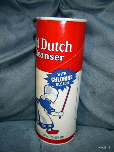 orig vintage OLD DUTCH CLEANSER~Full UNOPENED CAN w//chlorine bleach NOS 50Yrs+