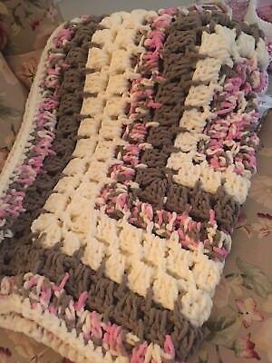 Nursery Bedding Responsible Baby Girl Afghan Pink/cream Blanket Lap Blanket Baby Shower Gift