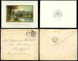 GB QV CHRISTMAS CARD 1881 WATFORD to SOUTHPORT DEC 25 DELIVERY