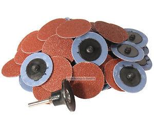 "50pc 3 /"" ROLL LOCK SANDING DISC 60 GRIT Made in GERMANY Heavy Duty roloc sand"