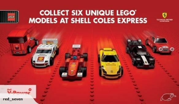 13 x Polybags of Collectable Lego Shell Ferrari and Shell V Power - Brand New