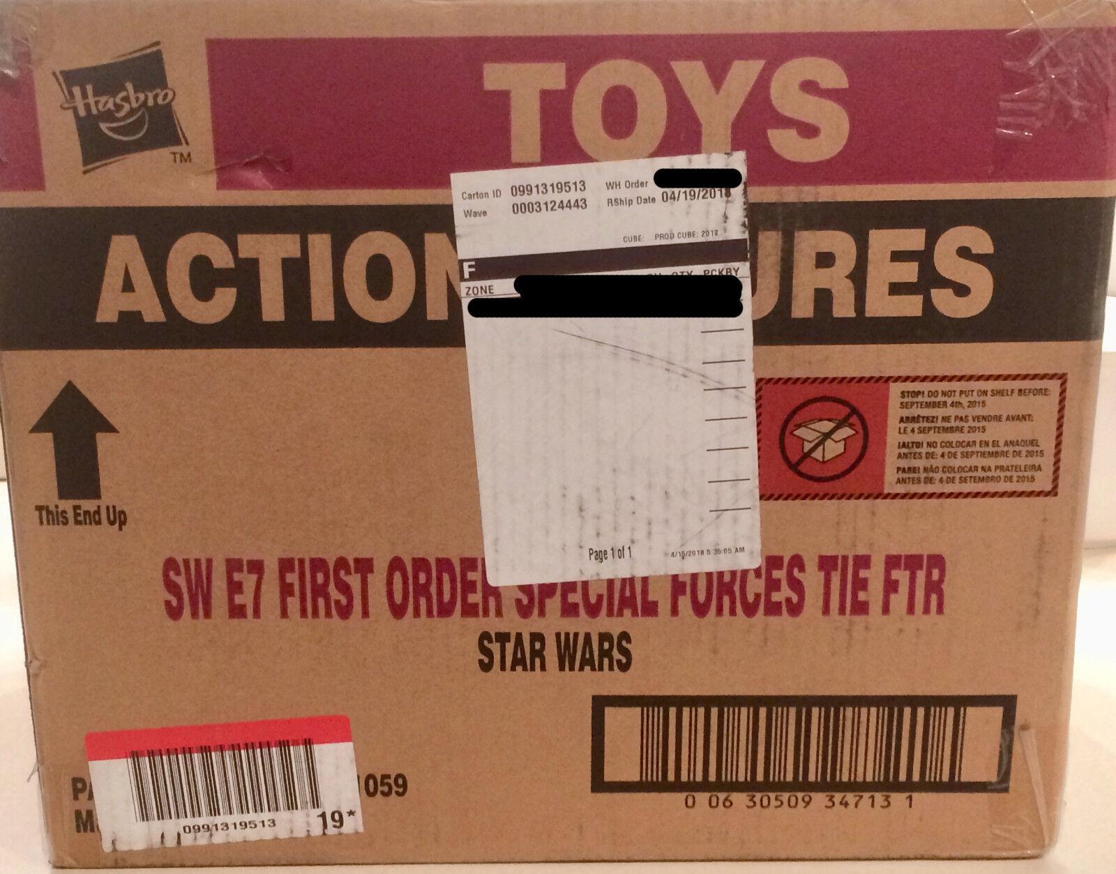 3x star wars de premier ordre Tie Fighter (Factory Sealed Case) (Force Réveille 2015)
