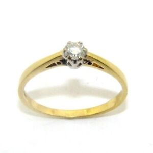 Ladies-womens-18carat-yellow-gold-solitaire-diamond-engagement-ring-size-S-1-2