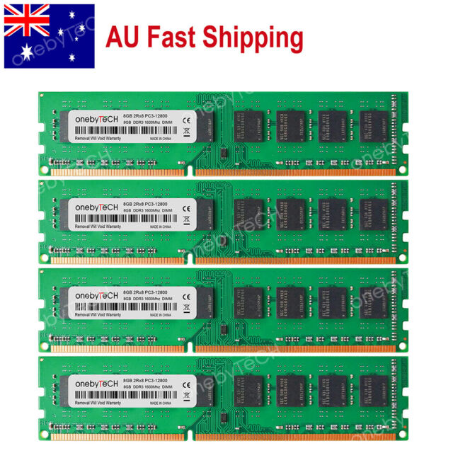 AU 32GB 4x8GB PC3-12800 DDR3-1600Mhz 240pin NON-ECC Intel Desktop Memory RAM