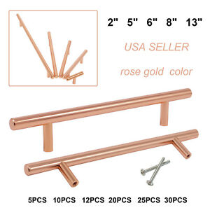 T-Bar Satin Copper Drawer Pull 6 Copper Drawer Pull Cabinet Knobs