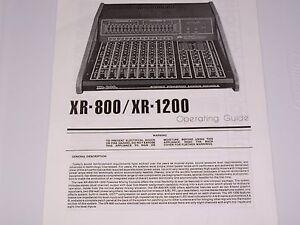 peavey xr 800 xr 1200 mixing console pdf manual ebay rh ebay com peavey xr 1200 manual peavey xr 1200 c manual