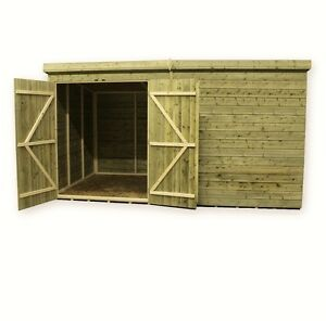 Wooden Garden Shed Pressure Treated Tongue And