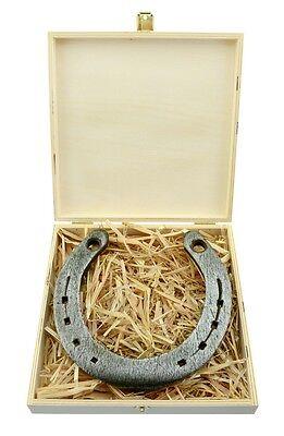 Glückshufeisen mit Gravur Hufeisen Glücksbringer Pferdehufeisen getragen Präsent