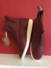 Dr MARTENS Whiton Softy T Leather Women's Boots Cherry Red Size Uk 7 BRAND NEW